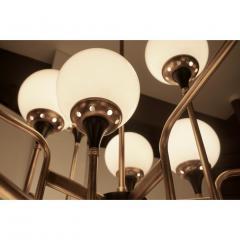 Italian Contemporary White Black Brass 24 Light Modern Asymmetric Chandelier - 1979870