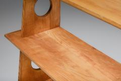 Italian Design Bookshelves In Solid Elm 1970s - 2133079
