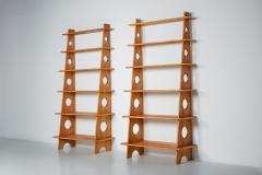 Italian Design Bookshelves In Solid Elm 1970s - 2133089