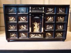 Italian Ebonized and Inlaid Table Cabinet - 85463