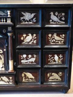 Italian Ebonized and Inlaid Table Cabinet - 85464