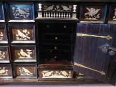 Italian Ebonized and Inlaid Table Cabinet - 85465