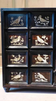 Italian Ebonized and Inlaid Table Cabinet - 85466
