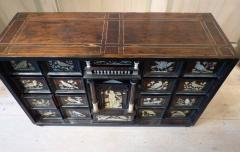 Italian Ebonized and Inlaid Table Cabinet - 85467