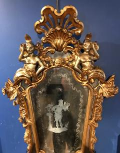 Italian Etched Carved Giltwood Mirror - 504057