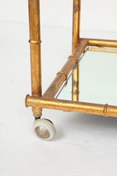 Italian Gilt Iron Stylized Bamboo Serving Bar Cart - 913253