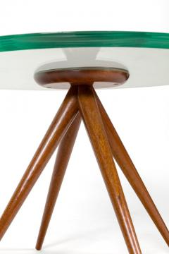 Italian Glass and Mahogany Round Occasional Table in the Manner of Pietro Chiesa - 876701