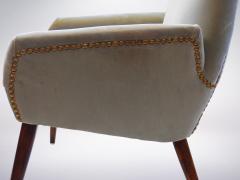 Italian Grey Velvet Armchair 1950s - 940534