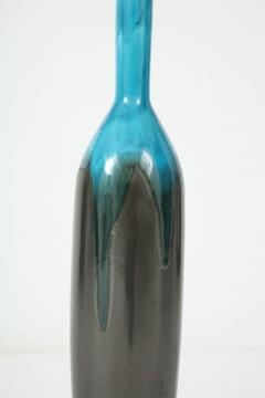 Italian Gunmetal Turquoise Ceramic Lamps - 877542
