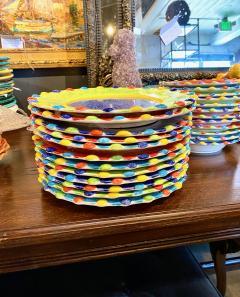 Italian Hand Painted Dinner Plates Set of 12 - 1933046
