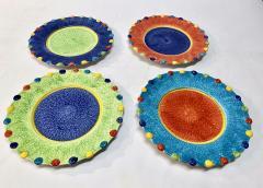 Italian Hand Painted Dinner Plates Set of 12 - 1933049