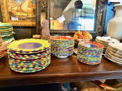 Italian Hand Painted Dinner Plates Set of 12 - 1933054