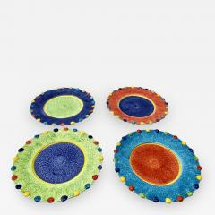 Italian Hand Painted Dinner Plates Set of 12 - 1934961
