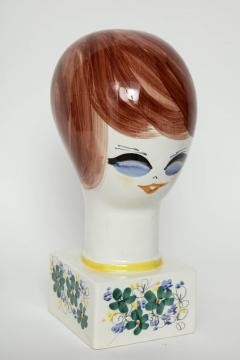 Italian Hand Painted Porcelain Bust - 1135660