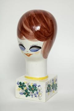 Italian Hand Painted Porcelain Bust - 1135661
