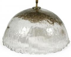 Italian Handblown Pulegoso Glass Dome Chandelier - 775326