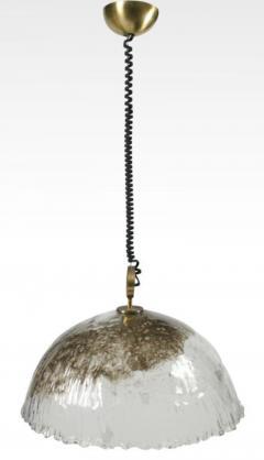 Italian Handblown Pulegoso Glass Dome Chandelier - 775396