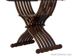 Italian Inlaid Folding Savonarola Chair - 1992689