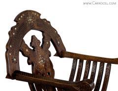 Italian Inlaid Folding Savonarola Chair - 1992690