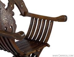 Italian Inlaid Folding Savonarola Chair - 1992691