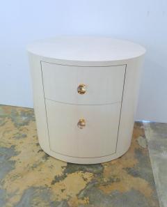 Italian Inspired 1970s Style Oval Nightstand - 1465630
