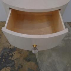 Italian Inspired 1970s Style Oval Nightstand - 1465635