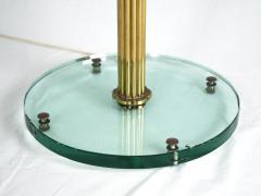 Italian Lantern Floor lamp in Brass and Cut Glass 1940s - 752701