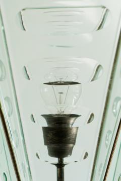 Italian Lantern Floor lamp in Brass and Cut Glass 1940s - 752707
