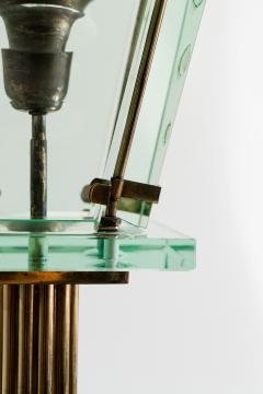 Italian Lantern Floor lamp in Brass and Cut Glass 1940s - 752708