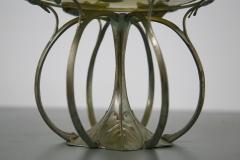 Italian Liberty display in silver plate Pedestal Stand with vase in glass 1900s - 1553909