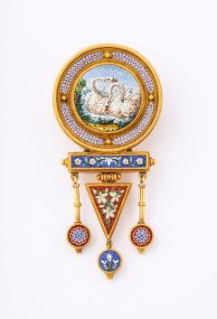 Italian Micro Mosaic Brooch - 1396570