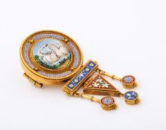 Italian Micro Mosaic Brooch - 1396573