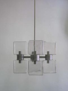 Italian Mid Century Modern Murano Venetian Glass Chandelier 1960 - 1876768