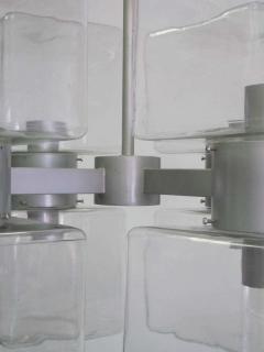 Italian Mid Century Modern Murano Venetian Glass Chandelier 1960 - 1876769