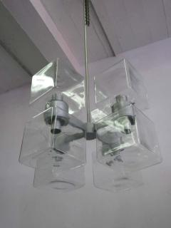 Italian Mid Century Modern Murano Venetian Glass Chandelier 1960 - 1876770