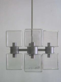 Italian Mid Century Modern Murano Venetian Glass Chandelier 1960 - 1876771