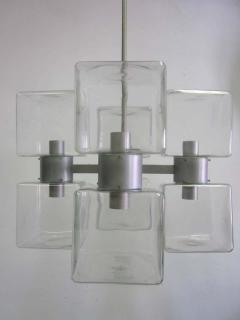Italian Mid Century Modern Murano Venetian Glass Chandelier 1960 - 1876777