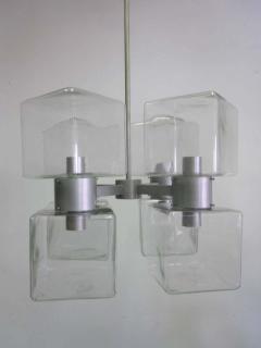 Italian Mid Century Modern Murano Venetian Glass Chandelier 1960 - 1876778