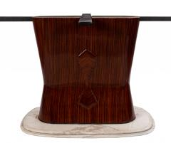 Italian Mid Century Parchment and Rosewood Dining Table - 1224217