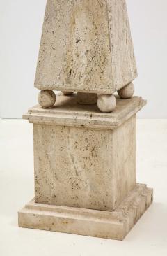 Italian Minimalist Roman Travertine Obelisk Italy 1970 - 2066661