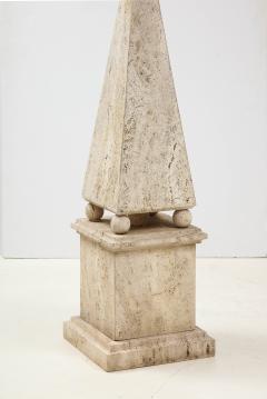 Italian Minimalist Roman Travertine Obelisk Italy 1970 - 2066666