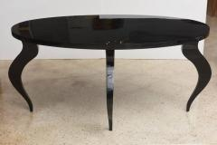 Italian Modern Black Lacquer Center Dining Table - 373162