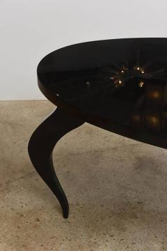 Italian Modern Black Lacquer Center Dining Table - 373164