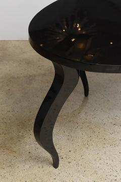 Italian Modern Black Lacquer Center Dining Table - 373165