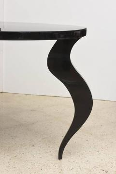 Italian Modern Black Lacquer Center Dining Table - 373166