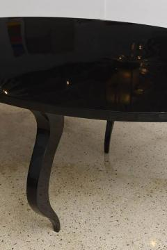Italian Modern Black Lacquer Center Dining Table - 373167