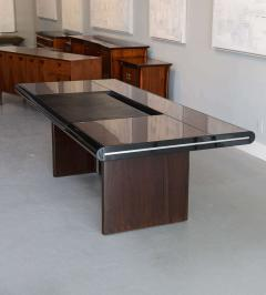 Italian Modern Ebony de Macassar and Chrome Desk Hans Von Klier for Skipper - 106269
