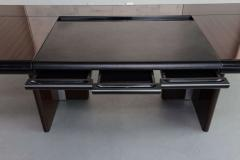 Italian Modern Ebony de Macassar and Chrome Desk Hans Von Klier for Skipper - 106270