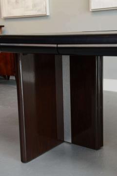 Italian Modern Ebony de Macassar and Chrome Desk Hans Von Klier for Skipper - 106275