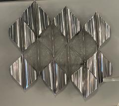 Italian Modern Handblown Glass and Polished Stainless Steel Wall Light Mazzega - 2098198